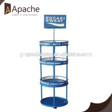 ISO9001:2000 train 3 tier rotating display stand