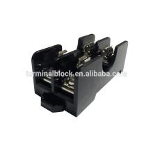 FB-0612 Conexiones de tornillo de baja tensión de montaje en carril DIN de 2 vías y base de fusible