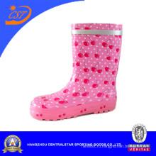 Розовый Вишни Девочек Милые Дождя Сапоги Kr042
