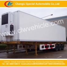 Tri Achsen 55-75cbm gekühlter Van Semi-Trailer / gekühlter Anhänger