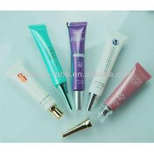 tubos macios plásticos cosméticos pequenos, tubos cosméticos da tela de seda