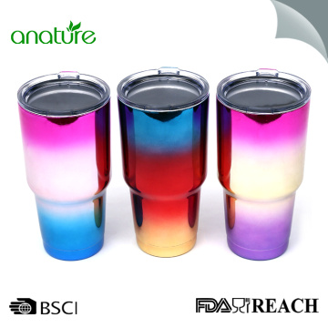 Fashion UV Plating Stainless Steel Tumbler Mug