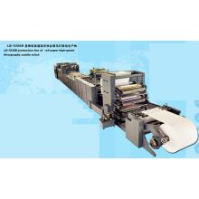 Línea de producción de papel laminado de alta velocidad de flexografía puntada Saddle (LD-1020D)