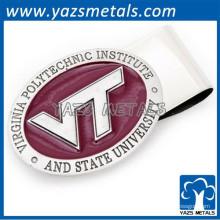 ovale Form gravieren Logo Mens Geld Clip Brieftasche