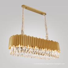 Modern Rectangle crystal lamp Large Crystal Pendant Modern luxury chandelier crystal lights for Dining Room