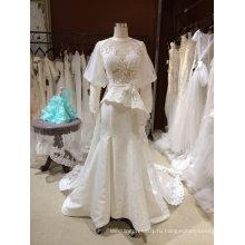 Линия Длинным Рукавом Backless Холтер Свадебное Платье