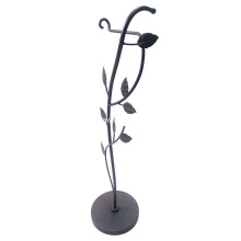 Metal Iron Leaf Toilet Tissue Holder
