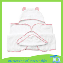 Softness Bamboo Fiber Baby Hooded Bath Towel