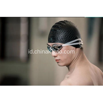 Cool Black Swimming Caps Silicone Material