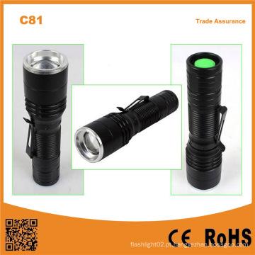 C81 portátil mini lanterna LED com lanterna tocha com clip de caneta
