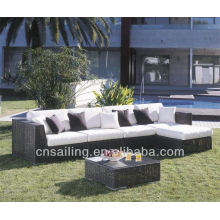 Популярный патио Водонепроницаемый 3-местный угловой диван с шезлонгом