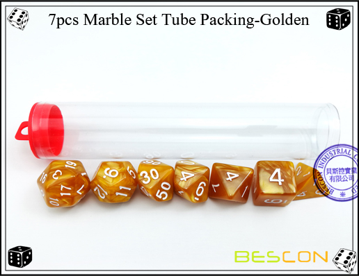 7pcs Marble Set Tube Packing-Golden-3
