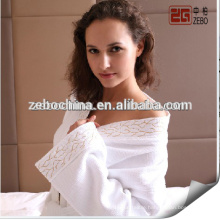 100% Cotton Average Size Stock Wholesale White Cotton Bathrobes