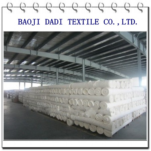 T/c woven white fabric