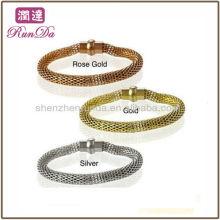 2013 Neue Produkte Hochglanzpoliertes Hohlgewebe Edelstahl Armband