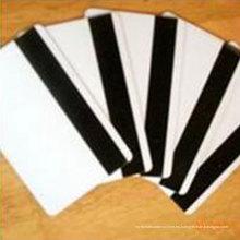 Guangzhou fábrica personalizada Hi-co / Lo-co tarjeta de banda magnética / 13.56MHz RFID en blanco tarjeta de PVC blanco