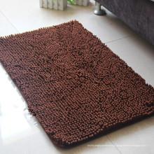 barato fabricação de esteira de porta marrom de microfibra