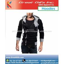 Fashion model fit and warm custom made hoodie jacket fleece cotton
