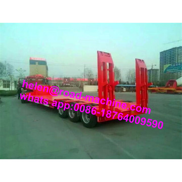 3 Axles 100 Ton Low Bed نصف مقطورة