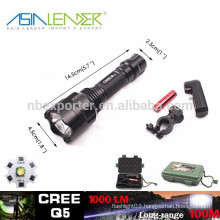 Working Mode:100% Bright/50% Bright/ SOS, Q5/5W-1200 Lumens Waterproof Tactical LED Flashlight