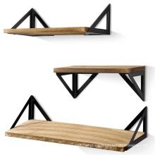 Modern style storage shelf, Floating shelf bracket, Floating shelves set of 3 pcs