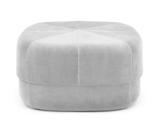 Fabric small footstool
