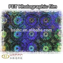 Película holográfica de PET Película a laser PET Filme metalizado PET