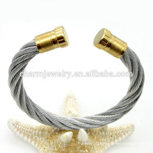 Latest Design Fashion Twisted Simple Stainless Steel Bangle Bracelet GSL009