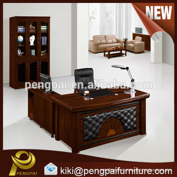 China commercial furniture MDF Paper Veneer office table for boss