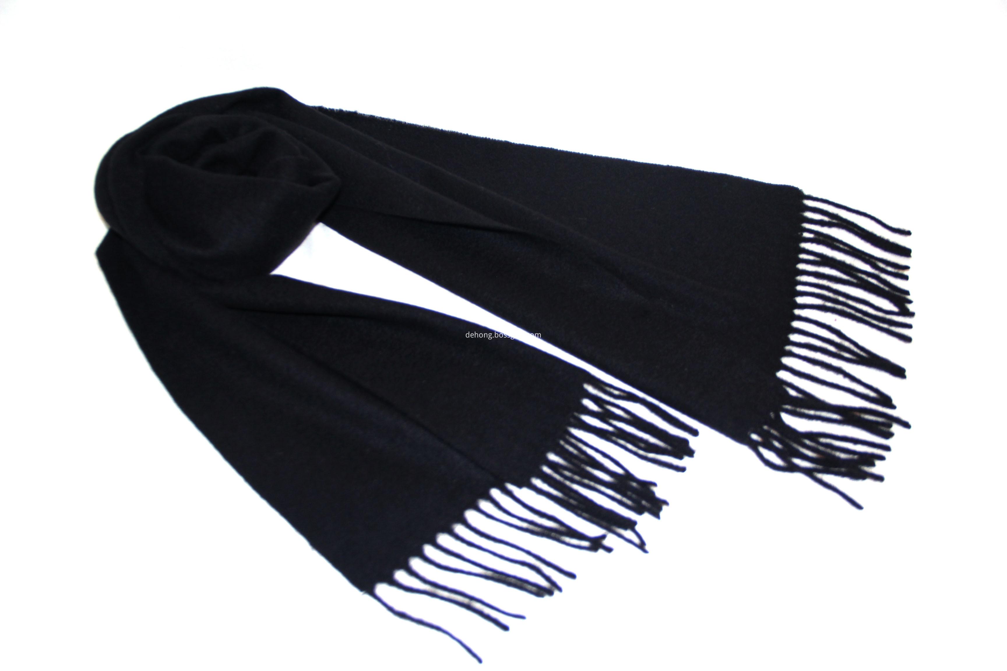 Black Cashmere Scarf