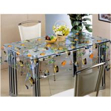 Material del PVC, característica impermeable, impermeable y transparente transparente del plástico del paño de tabla de la forma