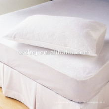 Pure white standard bed pillow core in cotton cover