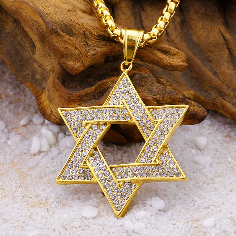 Gold Star Of David Necklace