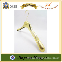 Alibaba Express Gold Plating Cloth Hanger Plastic Jacket Hanger