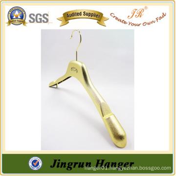 Alibaba Express Gold Plating Cloth Hanger Plastic Jacket Hanger