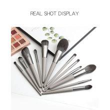 Benutzerdefiniertes 12Pieces Professional Grey Makeup Brush Set-Logo