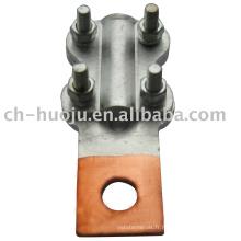 Collier de serrage bimétallique (connecteur boulonné droit)
