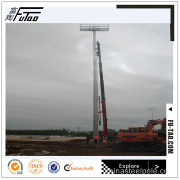 25M Single Face High Mast Lighting Pole