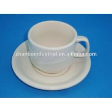 Tazas de café de porcelana blanca para el café, restaurante, hotel, casa
