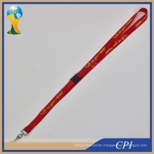 Life up Your Head Logo Printing on Red Lanyard with J Hook