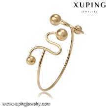 51828 Xuping Jewelry Fashion manchette bracelet avec plaqué or 18 carats