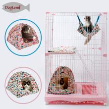 Fish Design Cotton Canvas Portable Pet Tent for indoor cats