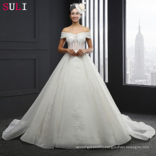 SL-3011 Off The Shoulder Cap Sleeve Lace Wedding Dress