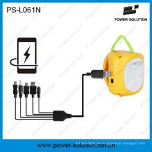 Wiederaufladbare Solar Laterne mit USB-Handy-Ladegerät für ländliches Dorf für einkommensschwache Familie