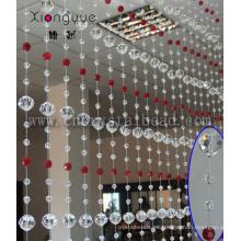 Venta caliente colgar cortinas del grano de cristal puerta Hotel