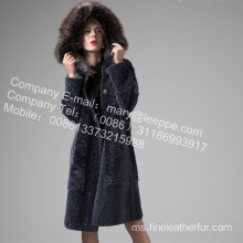 Mink Fur Coat Flower Long In Winter
