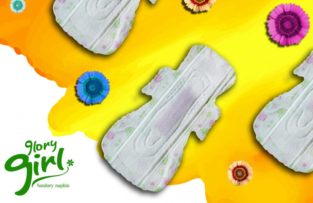 Overnight use herbal sanitary napkins for heavy flow