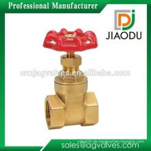 Konkurrenzfähiger Preis hochwertiger 4-Zoll-Messing-Schieber mit rotem Griff für Wasser