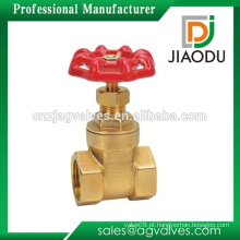 Válvula de porta de bronze de 4 polegadas de alta qualidade do preço do competidor com punho vermelho para a água