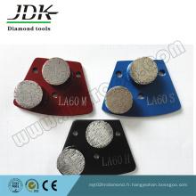 Plaque de meulage en métal diamant pour outils de meulage de béton
